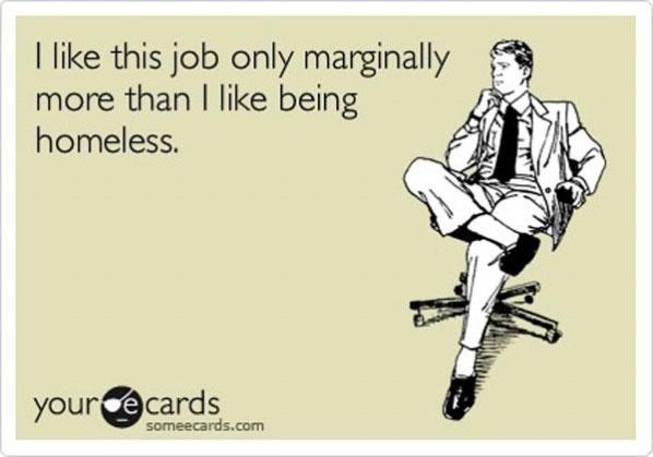 Nu sunt jobul meu. Sunt jobul meu.